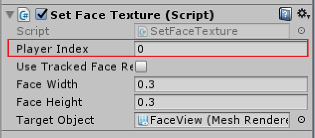 SetFaceTexture settings